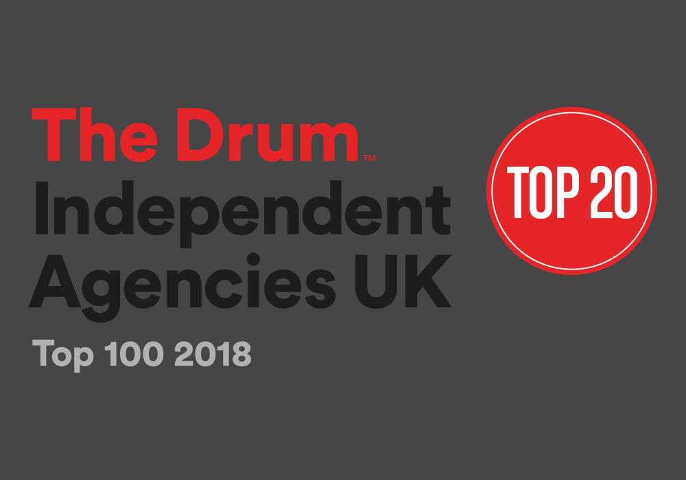 LAW CREATIVE RANKED IN TOP 20 UK AGENCIES